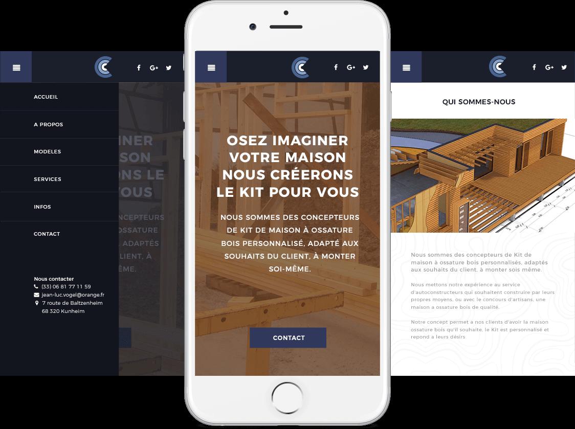 Site internet de 3C Concept