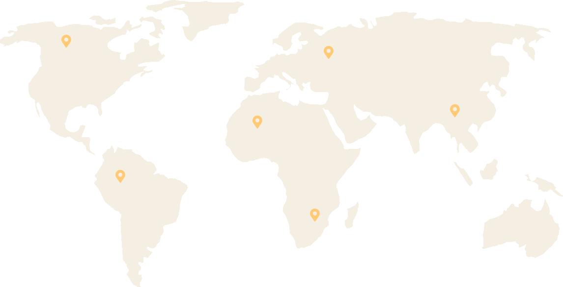 Carte des voyages de Aloha Blog