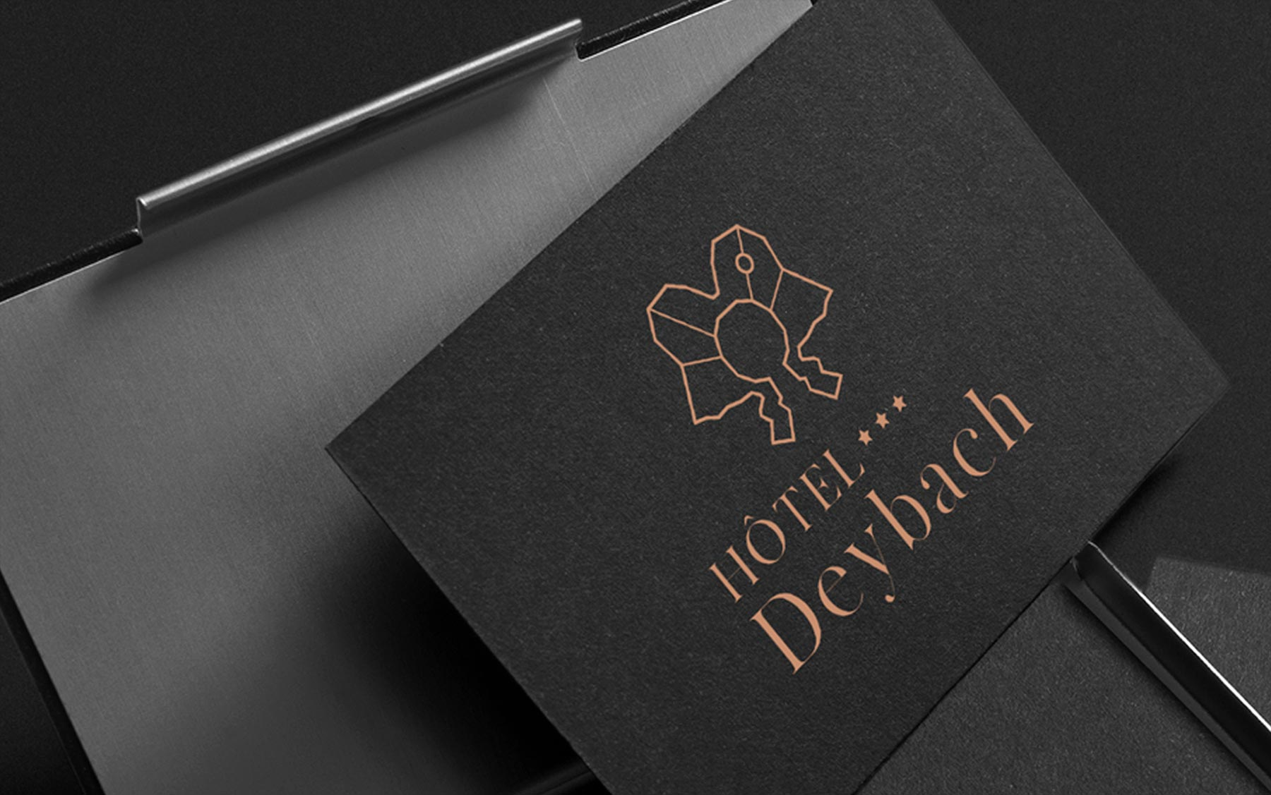 Création carte de visite de Hôtel Deybach
