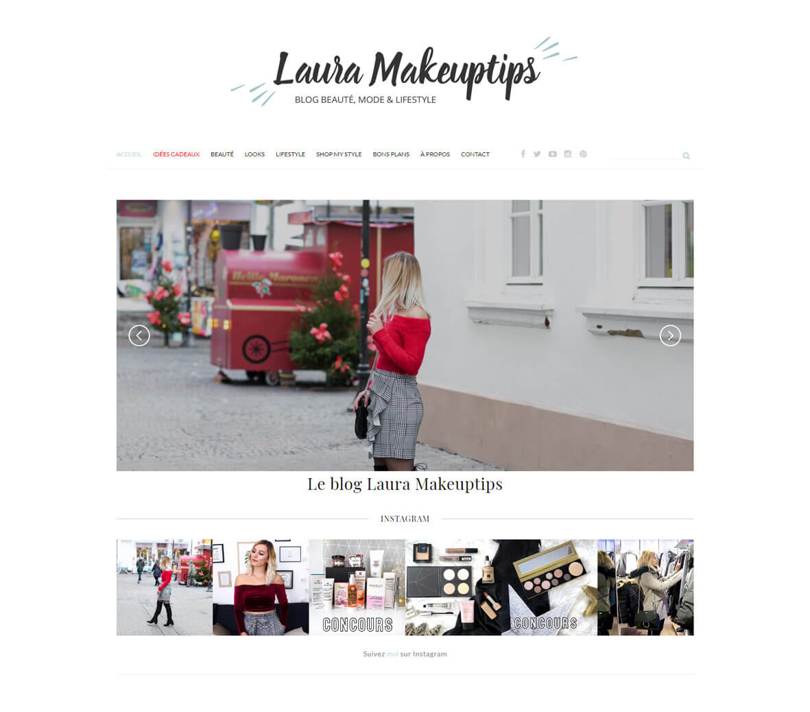 Site internet de Laura Makeuptips