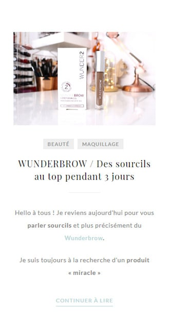 Site internet de Laura Makeuptips - Version Mobile