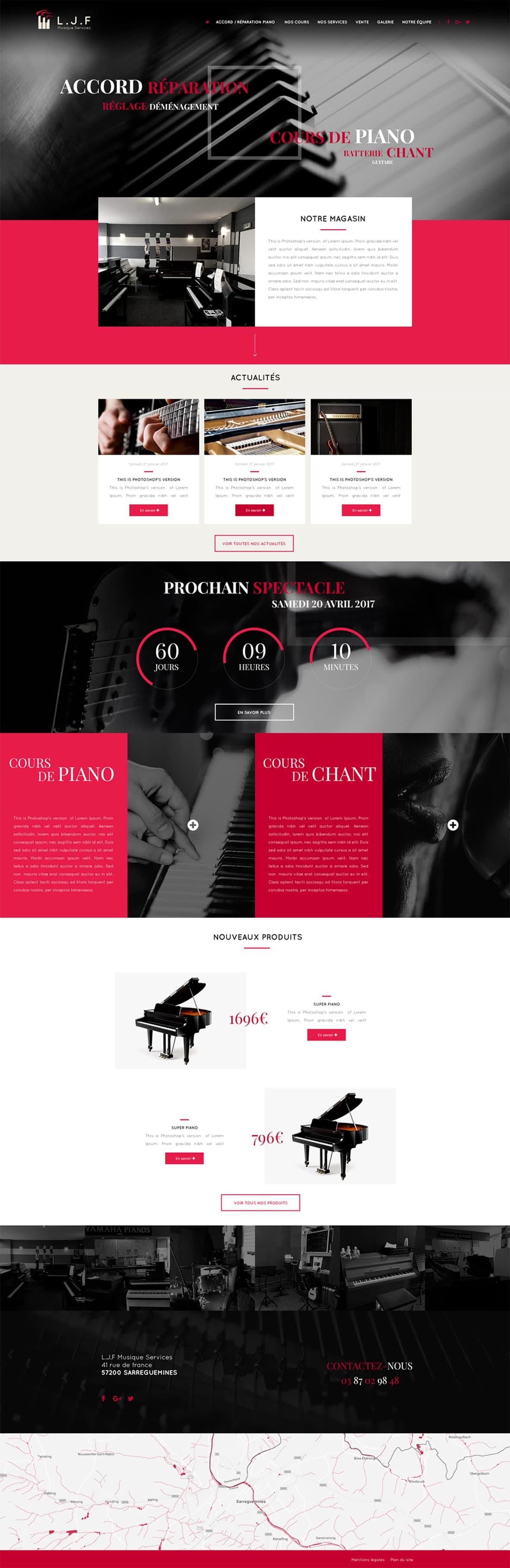 Site internet de LJF Musique Services