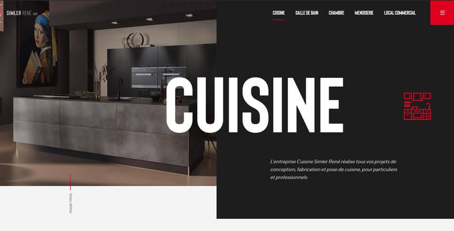 Site internet de Cuisine Simler René