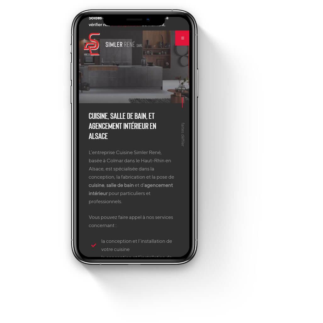Site mobile de Cuisine Simler René