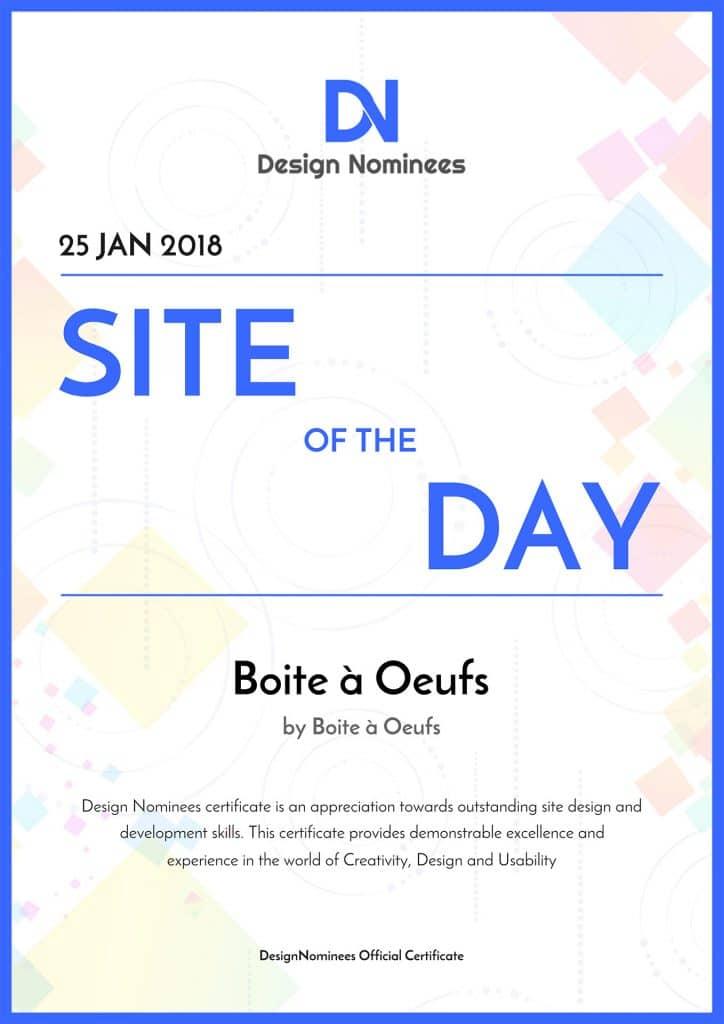 2018 01 25 Design Nominees Boite a Oeufs Site of the Day 724x1024 - Boite à Oeufs récompensé