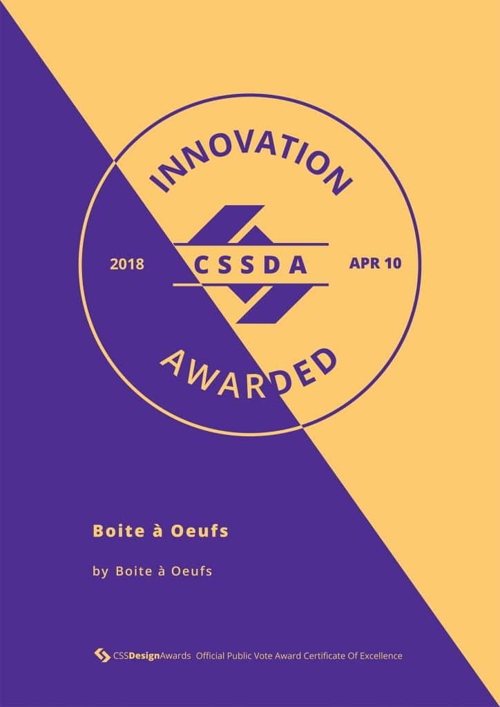 2018 04 10 CSSDA Boite a Oeufs Innovation 724x1024 - Boite à Oeufs récompensé