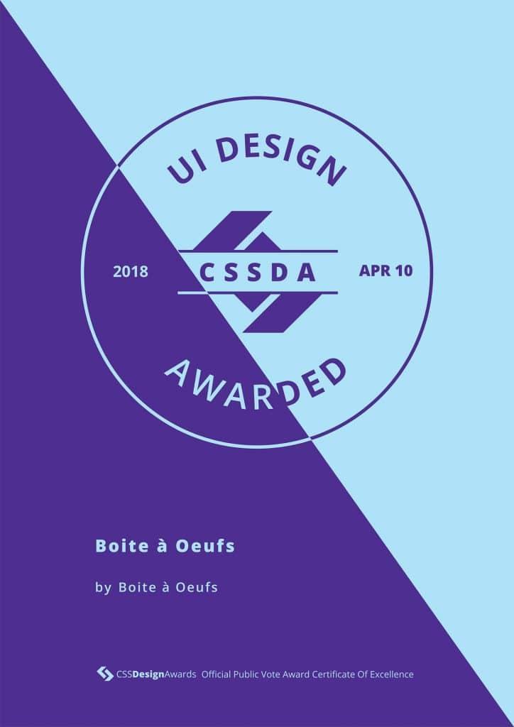 2018 04 10 CSSDA Boite a Oeufs UI 724x1024 - Boite à Oeufs récompensé