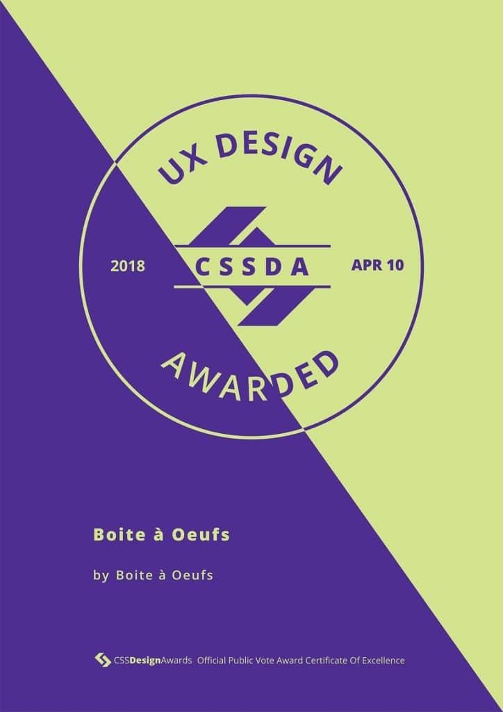 2018 04 10 CSSDA Boite a Oeufs UX 724x1024 - Boite à Oeufs récompensé